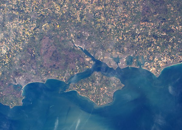 South Coast from outer space as taken by Tim Peake